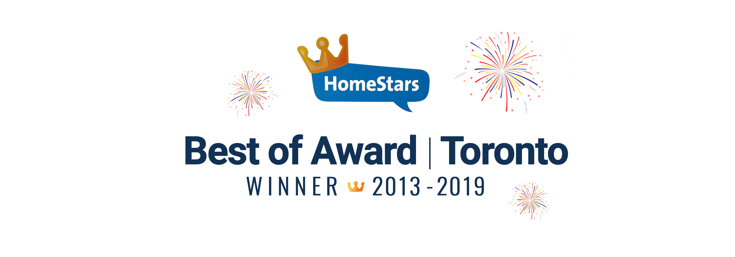 The Home Improvement Group - best of Homestars awards 2013-2019 for Toronto banner